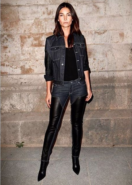 Outfit Lily Aldridge, sfilata Givenchy