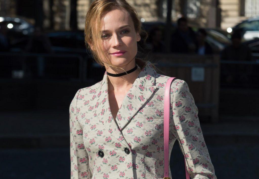 Indossato dalle star: Diane Kruger pigiama-chic