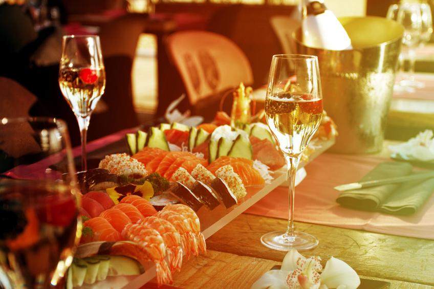 Shushi e champagne