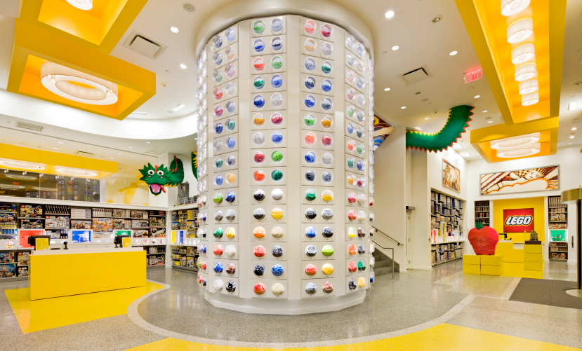 Uno scorcio del Lego Store di New York