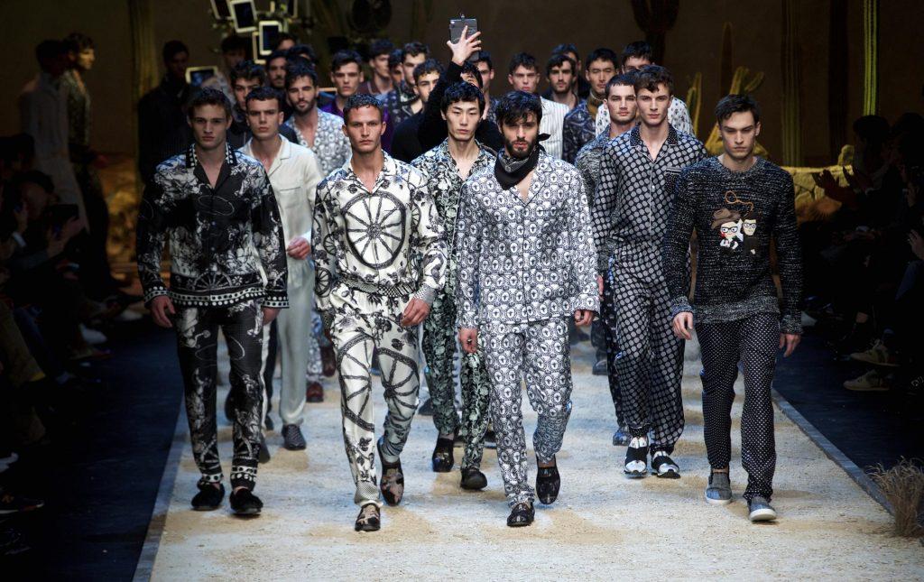 Tendenza pigiama - Sfilata Dolce e Gabbana