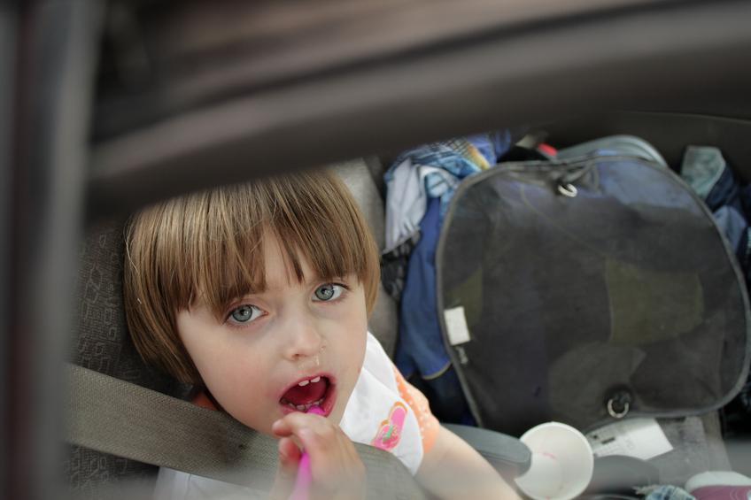 I soggetti più a rischio in caso di auto sporca sono i bambini