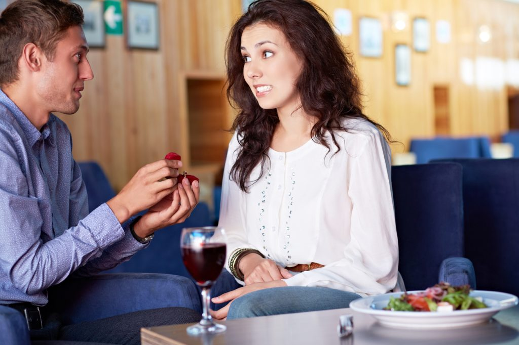 Proposta di matrimonio: quando va male