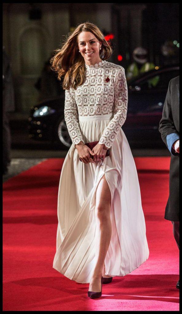 Kate Middleton alla prima del film 'A street cat named Bob'- Foto LaPresse