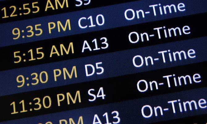 Viaggiare con puntualità: gli aerei