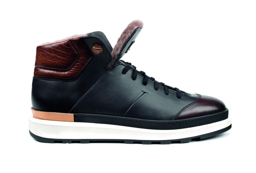 Le sneaker di Santoni: perfette anche per la settimana bianca