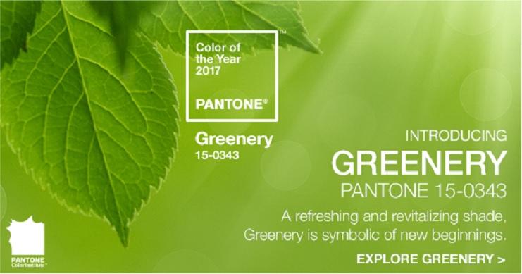 Pantone 2017: il colore dell'anno è Greenery