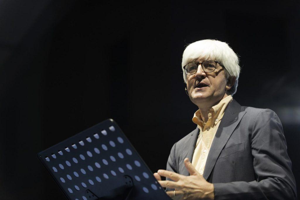 Beppe Severgnini al Festival di Letteratura a Mantova. Foto LaPresse