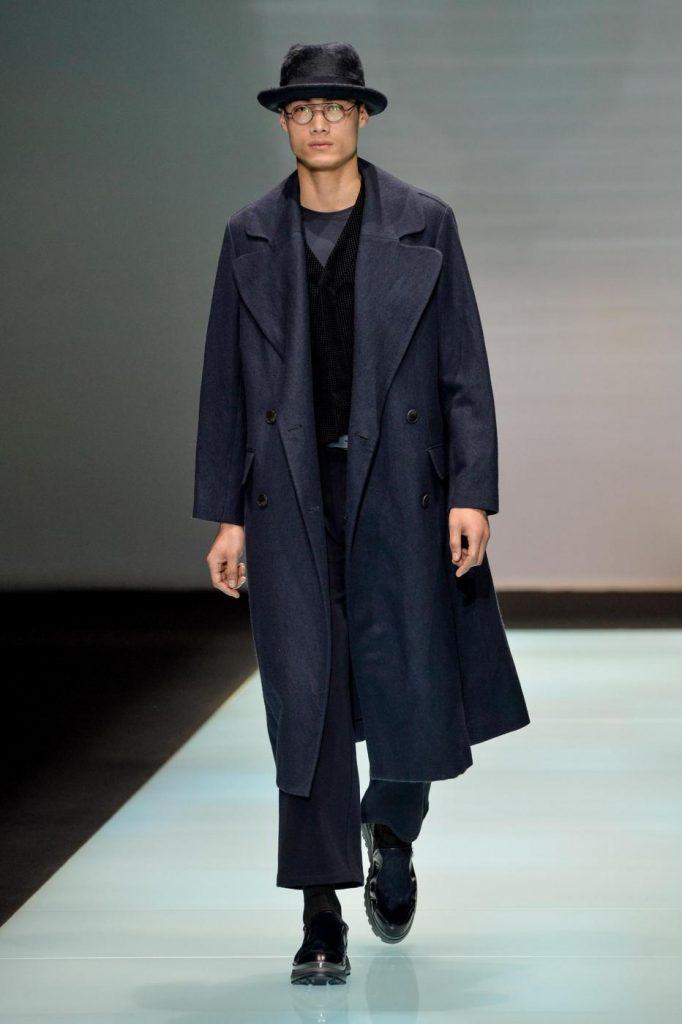 Milano Moda Uomo, Giorgio Armani, autunno inverno 2016 2017. Foto LaPresse