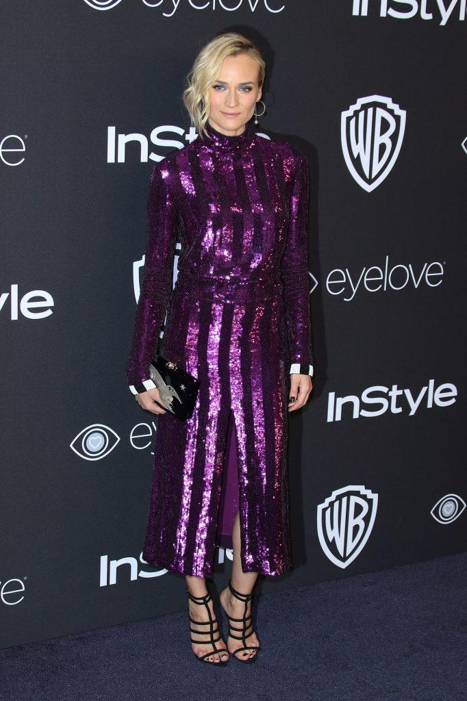 Diane Kruger al party Warner Bros che segue la cerimonia dei Golden Globe Awards. Foto LaPresse