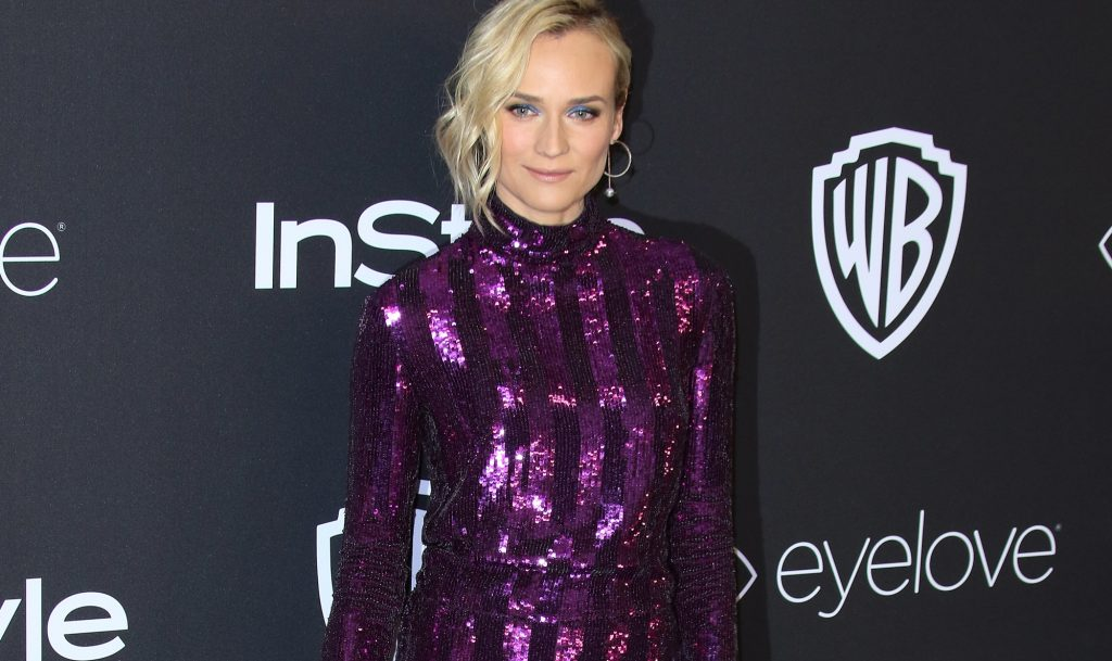 Diane Kruger ai Golden Globe: party-girl in paillettes
