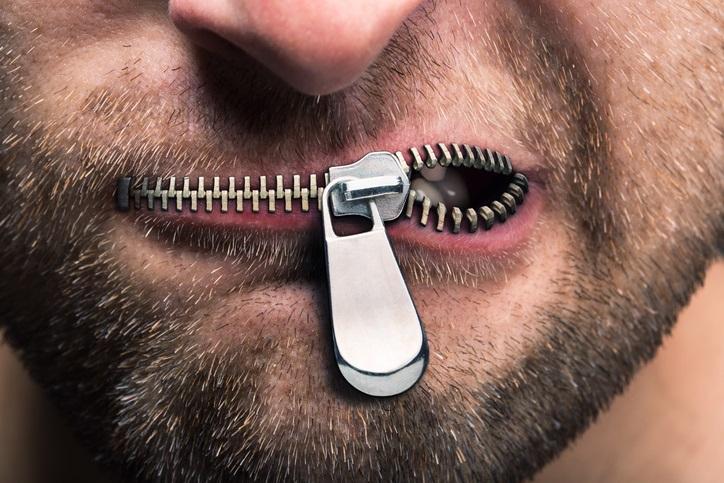 Uomo con bocca chiusa, nome, errore, sbaglio