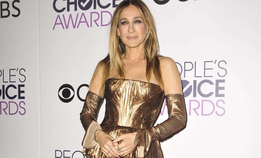 Sarah Jessica Parker in total look bronzo