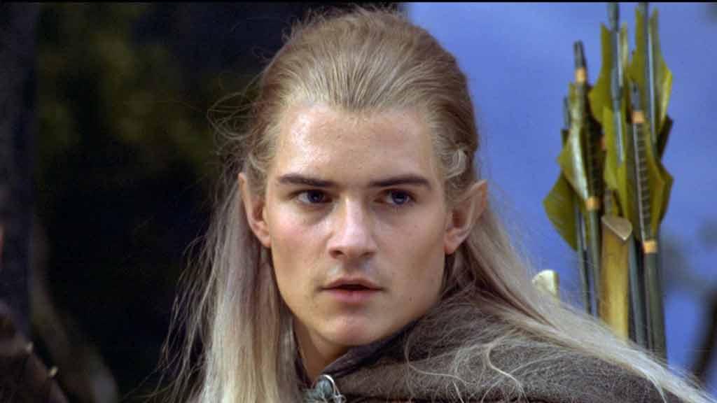 Orlando Bloom nei panni di Legolas