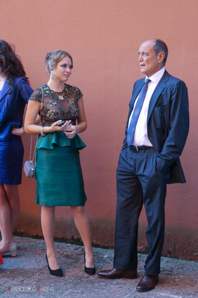 Laura Lena Forgia con Massimo Bonetti durante le riprese del film Il mondo di mezzo