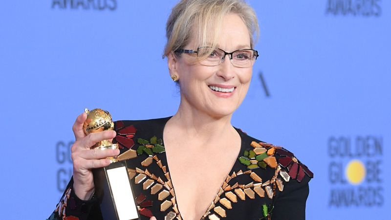 Meryl Streep: serata brillante ai Golden Globe