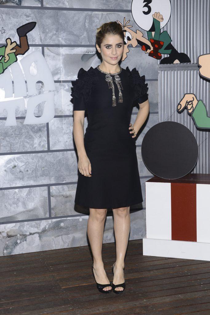 """Milano, Trasmissione TV """"Rischiatutto"""" nella foto: Greta Scarano in Gucci"""