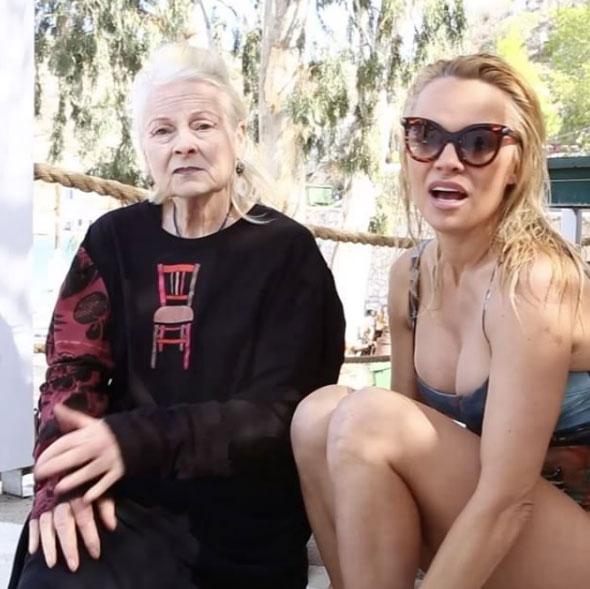 Pamela Anderson e Vivienne Westwood
