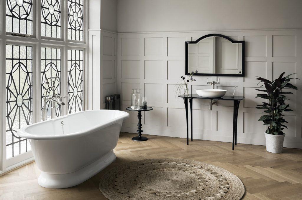 Victoria+Albert vasca York e mobile lavabo 110 Glass