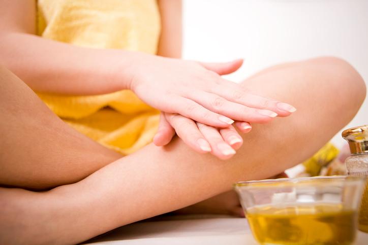Massaggio all'olio d'oliva