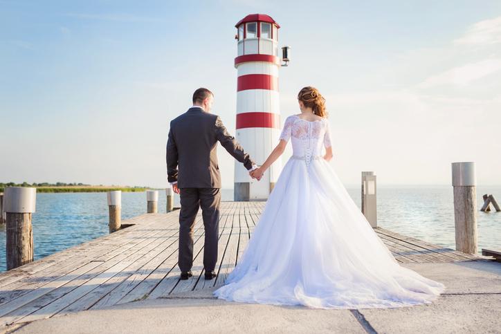 Sposi dopo la cerimonia