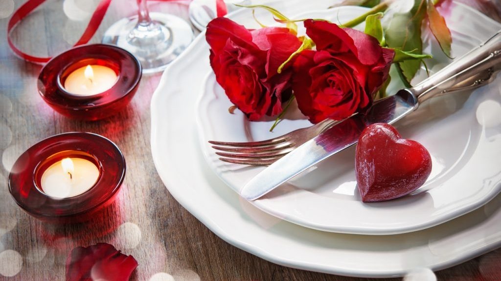 tavola per san Valentino