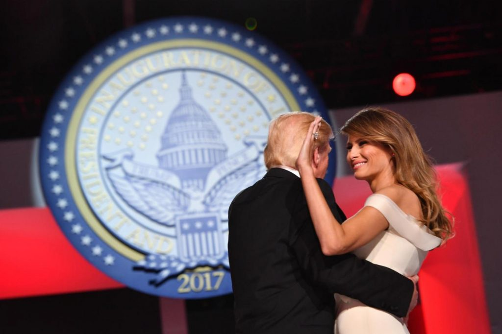 Donald Trump e la First Lady Melania Trump. Foto LaPresse