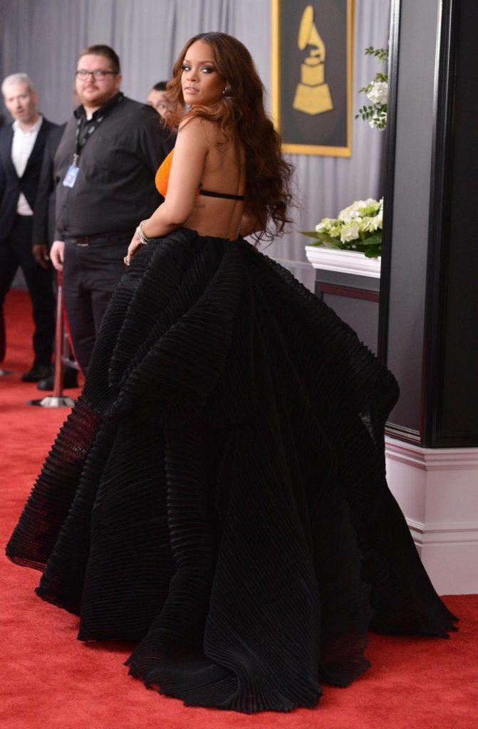 Rihanna ai GRAMMY Awards. Photo by Lionel Hahn - AbacaPress/LaPresse