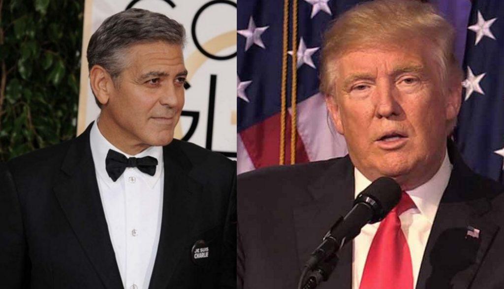 George Clooney e Donald Trump