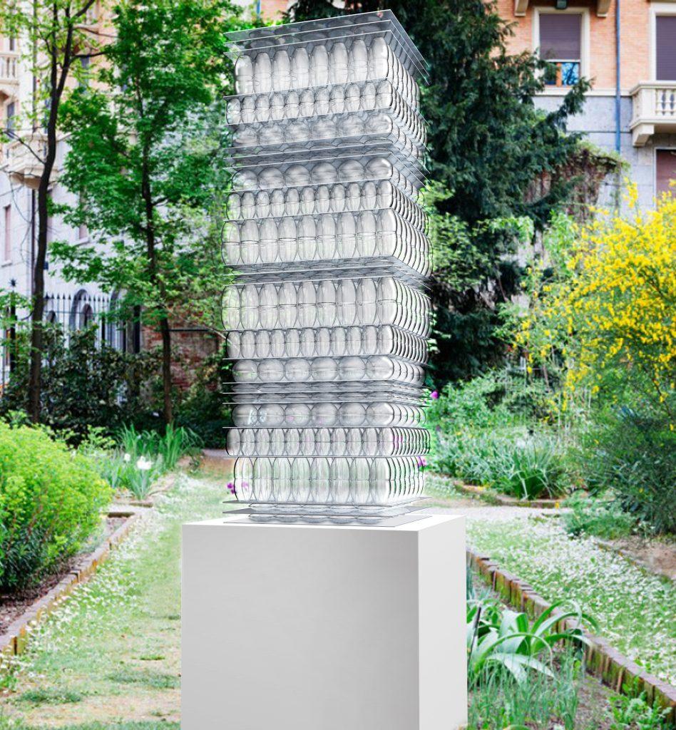 Liquid Tower di Mariano Moroni. Art to be Used - Fratelli Guzzini
