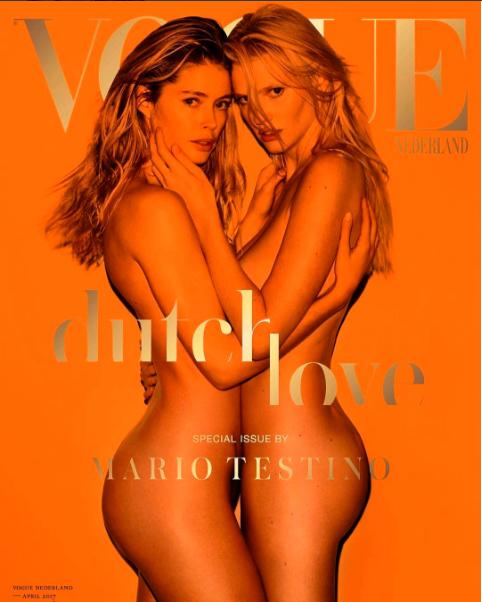 Dalla pagina Instagram di Doutzen Kroes - La copertina di Vogue Nederland scattata da Mario Testino