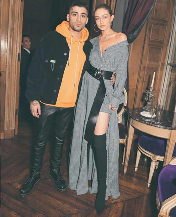 Gigi Hadid e Zayn Malik. La modella, oltre all'amore per il fidanzato, nutre una grande passione per gli stivali cuissard