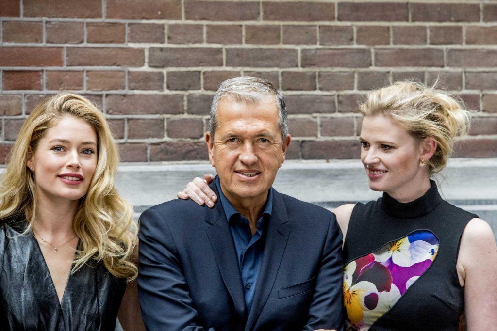 Anniversario di Vogue Olanda, la presentazione della copertina. Doutzen Kroes, Mario Testino e Lara Stone. LaPresse