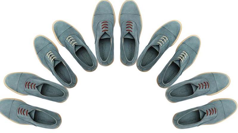 Denim shoes stringate blu niagara