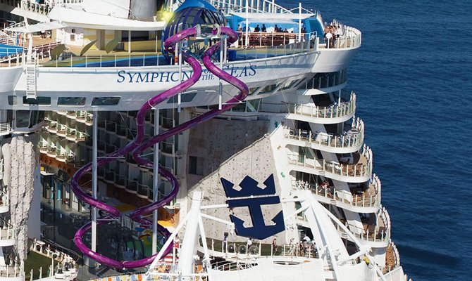 Scivoli sulla nave della Royal Caribbean