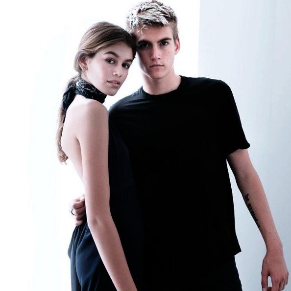 Kaia e Presley Gerber, figli di Cindy Crawfors