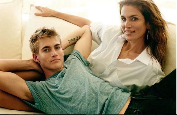 Cindy Crawford ed il figlio Presley Gerber