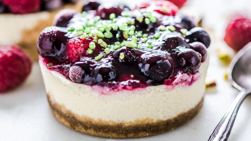 Cheesecake alle fragole dolce