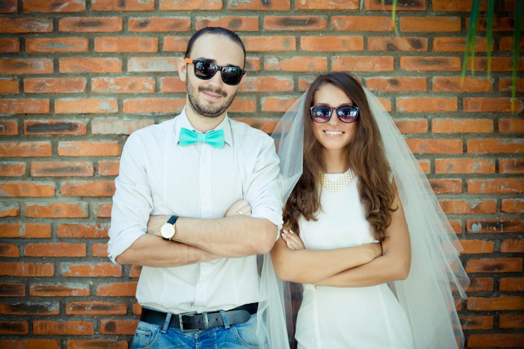 sposi felici, matrimonio felice