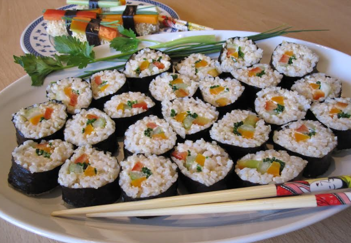 "Ricetta ""veg"": vegan maki sushi con riso integrale"