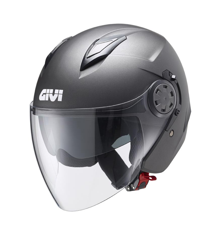 Ilnuovo casco Thanatos di GIVI nella colorazione Titanio Opaco