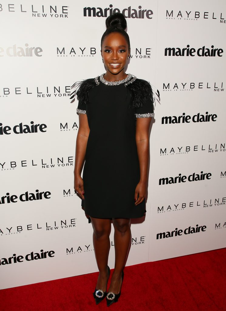 WEST HOLLYWOOD, CA - APRIL 21: Aja Naomi King attends Marie Claire's 'Fresh Faces' celebration with an event sponsored by Maybelline at Doheny Room on April 21, 2017 in West Hollywood, California. (Photo by JB Lacroix/WireImage)