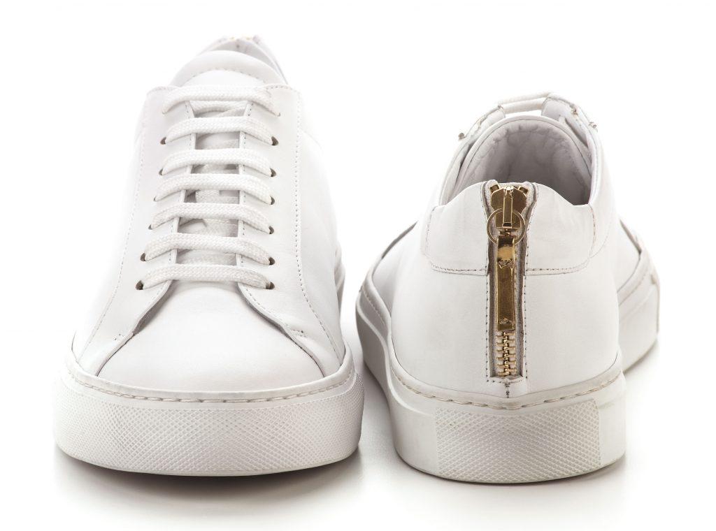 Le sneaker Linda di Simone Castelletti, in pelle total white