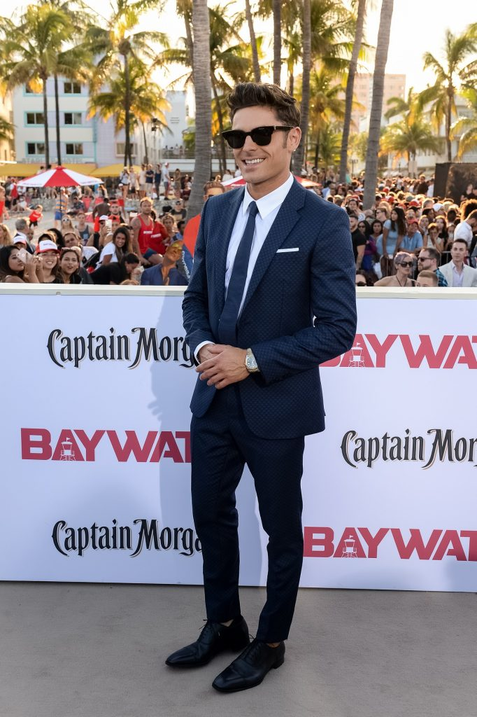 """MIAMI, FL - MAY 13: Zac Efron attends Paramount Pictures' World Premiere of """"Baywatch"""" on May 13, 2017 in Miami, Florida. (Photo by Jason Koerner/Getty Images)"""
