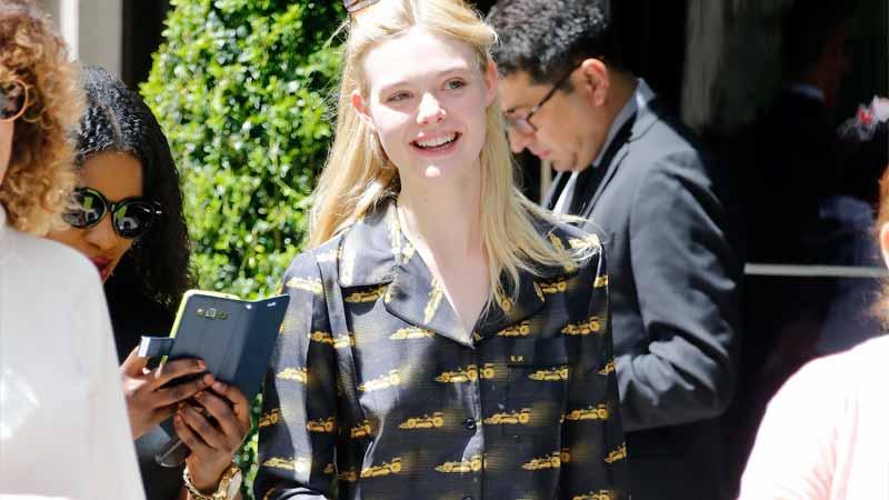 Elle Fanning, la paladina del pijama suits