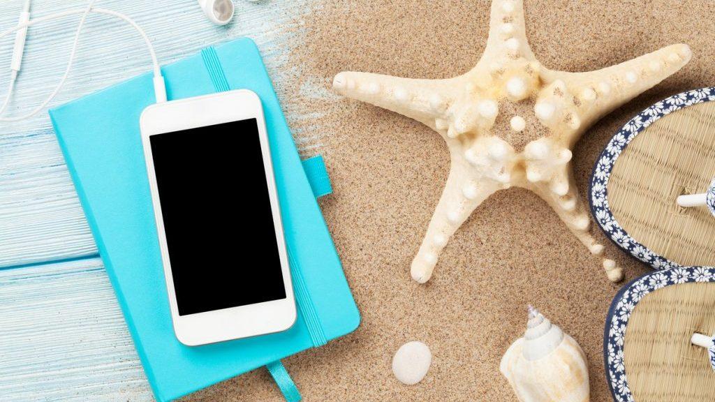 smartphone al mare