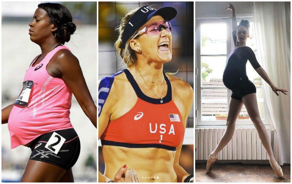 Le atlete che hanno gareggiato in gravidanza
