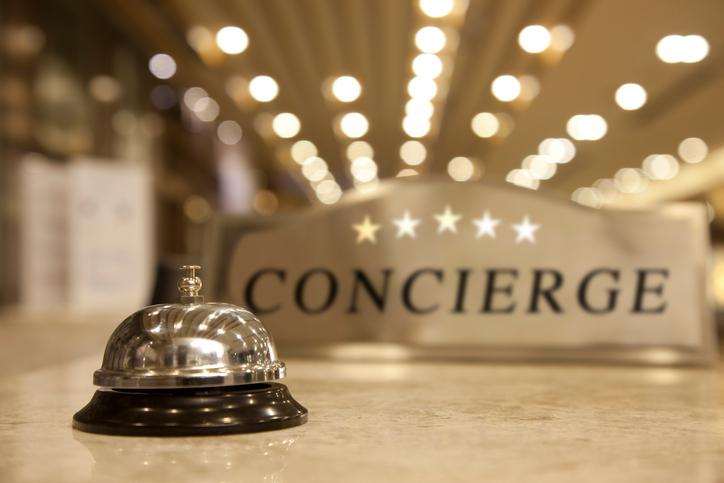 Concierge in hotel di lusso