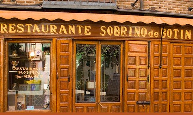 Il ristorante piu' antico del mondo si trova a Madrid