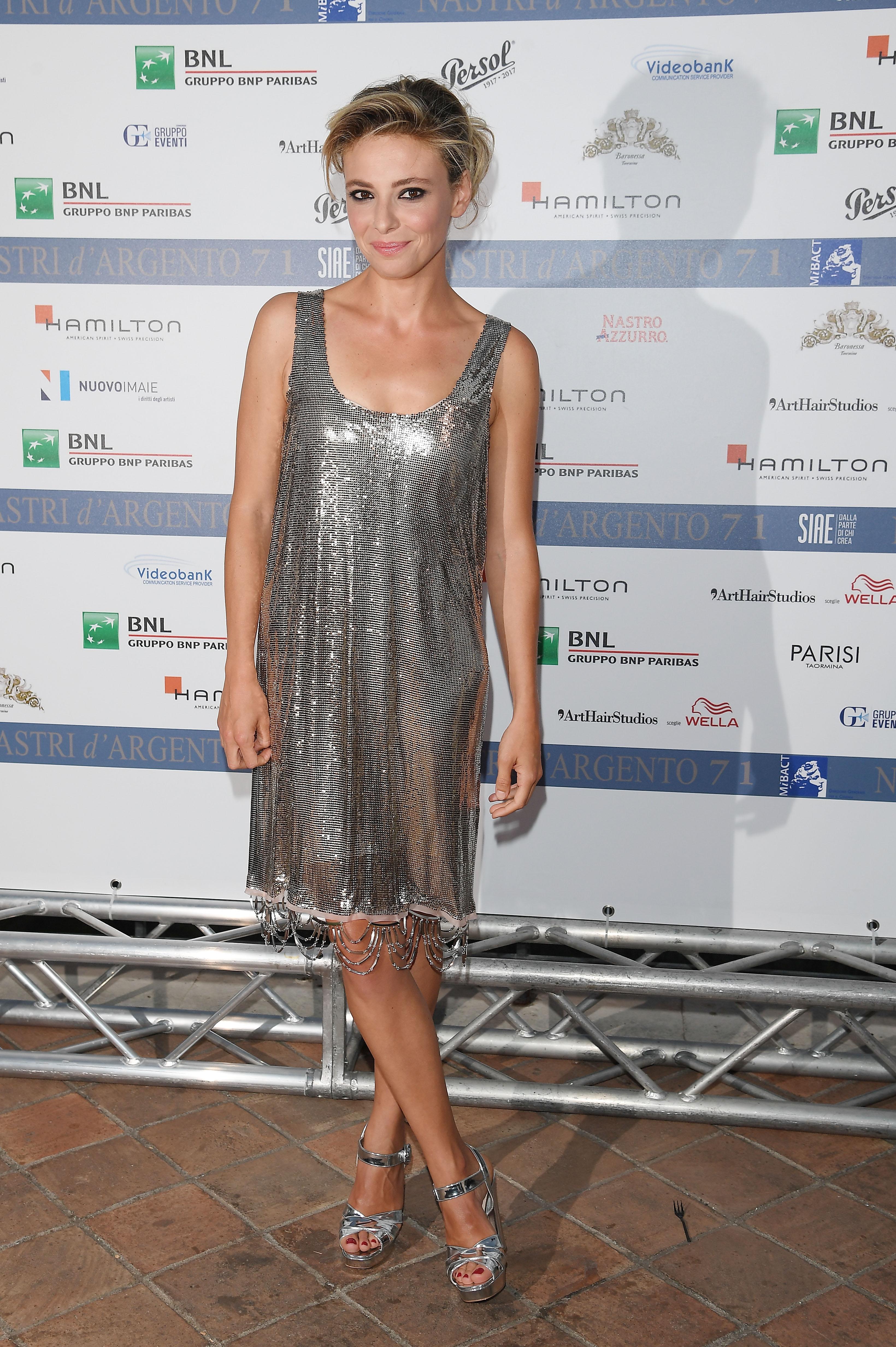 Jasmine Trinca in Prada ai Nastri d'Argento 2017